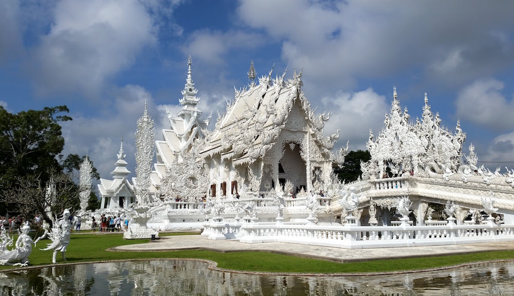 Wat Rong Khun / The White Temple in Chiang Rai, Thailand